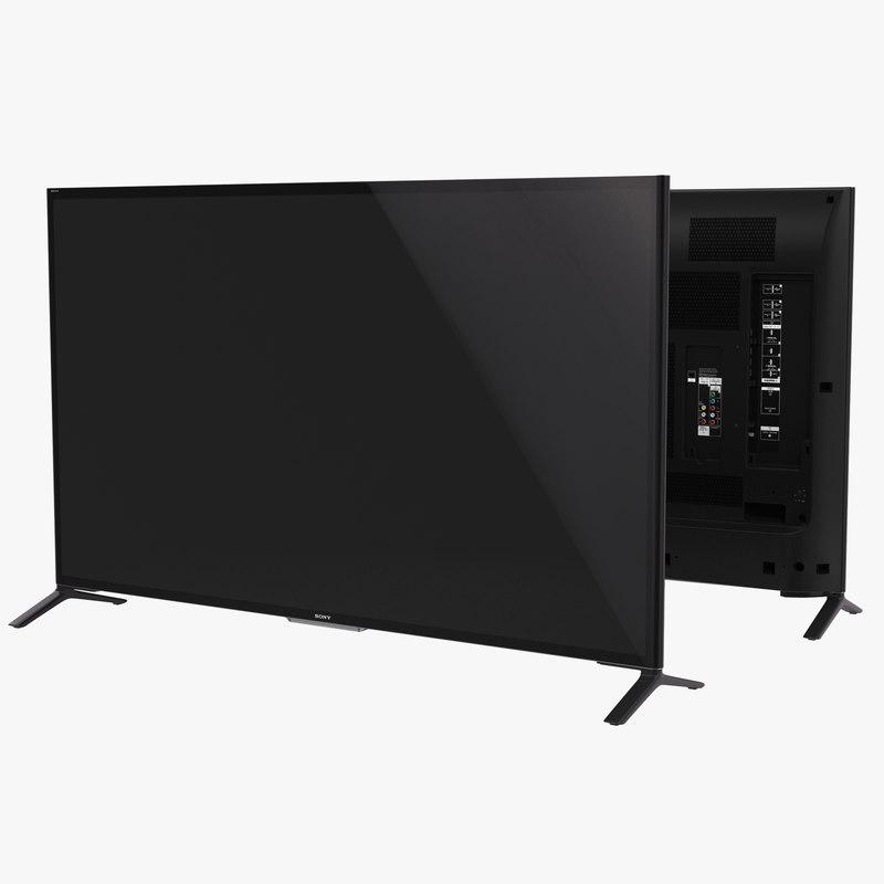 3d model sony 65 inch 4k. Black Bedroom Furniture Sets. Home Design Ideas