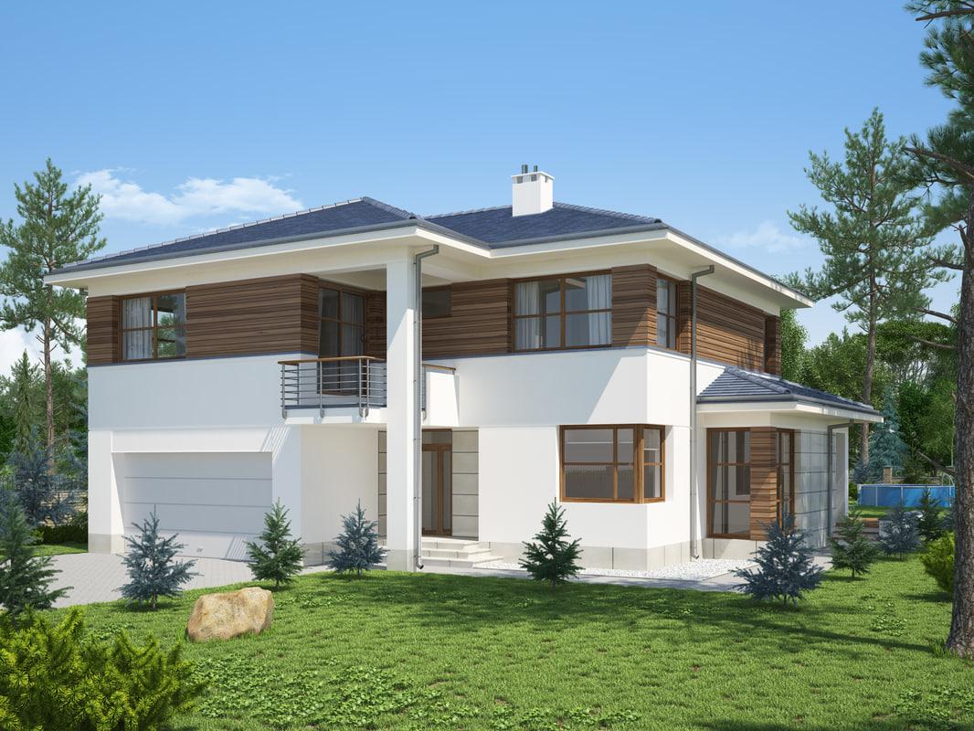 Villa house 3d model House 3d model