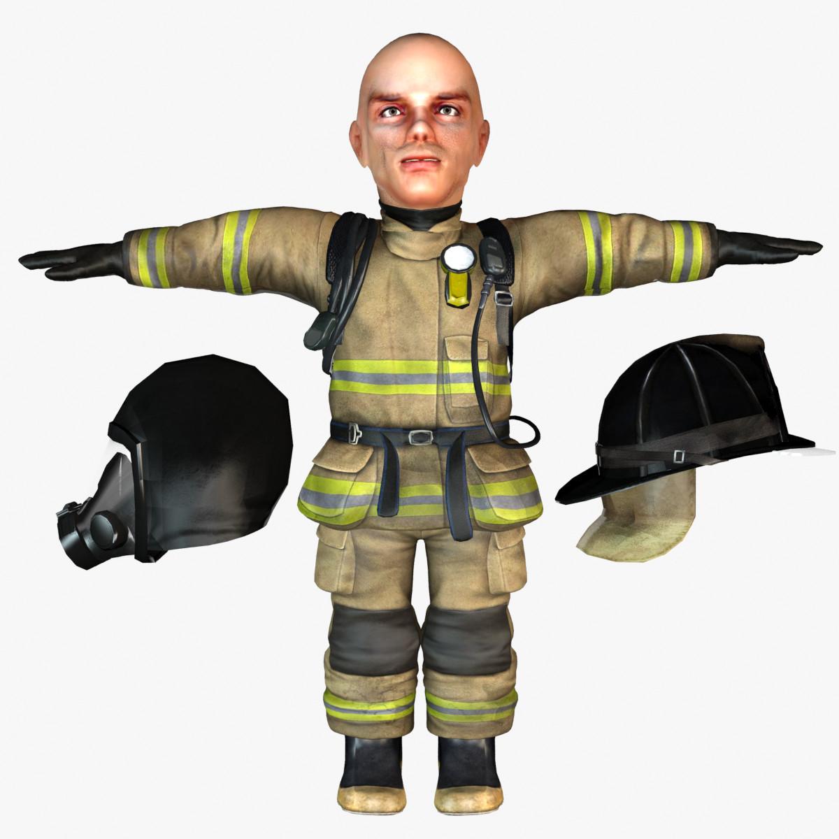 Dwarf  fireman 3d model