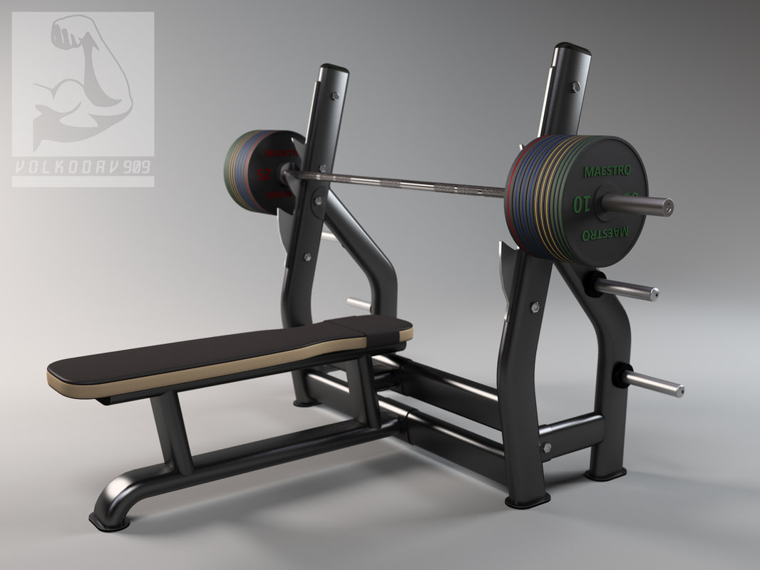 bench press 3d max
