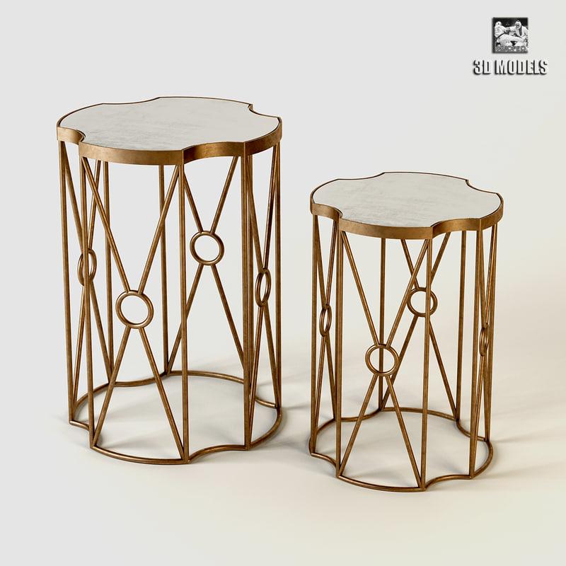 Eichholtz Side Table Sun Brass Set