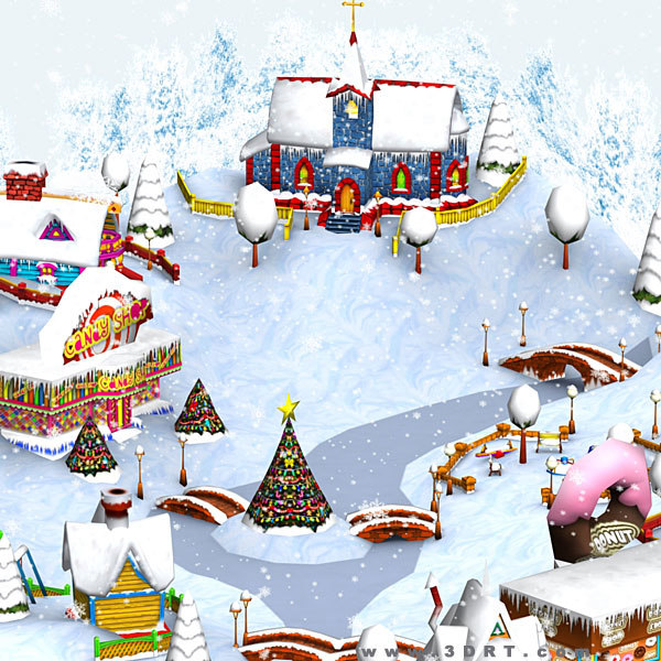 3DRT - Christmas Village