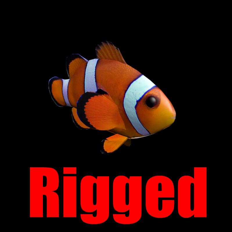 ClownFish Rigged