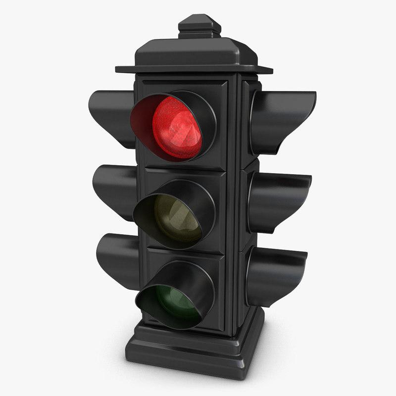 Traffic Light Animation 3d Max
