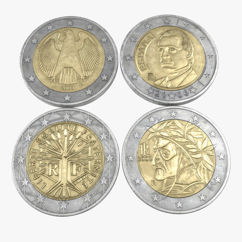 2 Euro Coins Collection 3d models 01.jpg