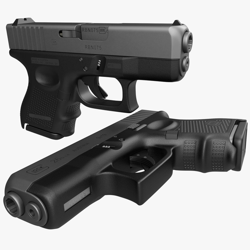 Glock 26 black 3d model 01.jpg