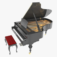 grand piano 3D models