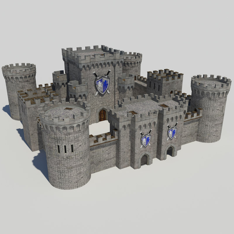 Medieval Castle Pack 1 - Tower Gatehouse Keep
