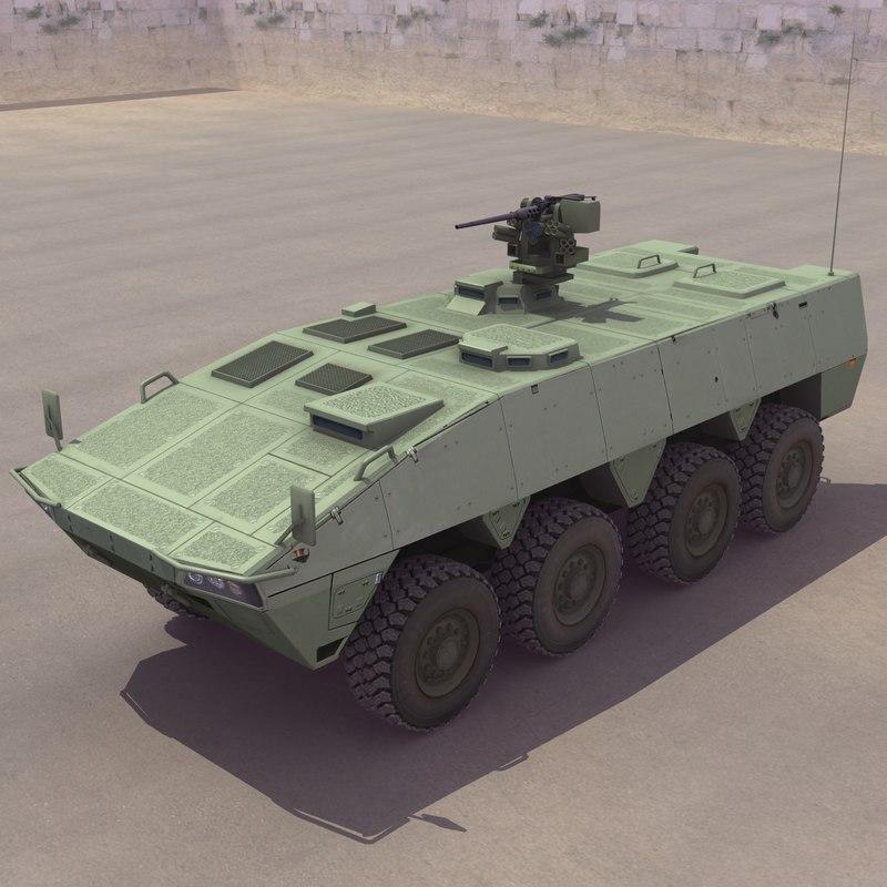 Turbocharger Havoc: Patria Amv 3d Model