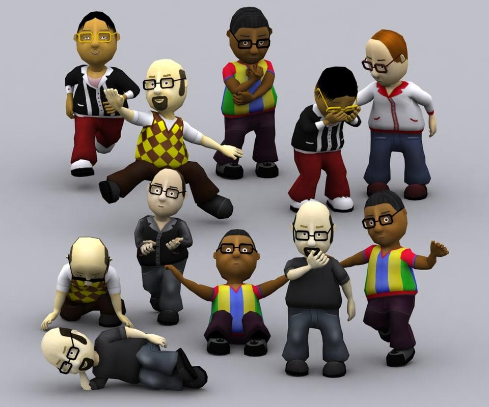 3DRT - Toonworld Characters - Males