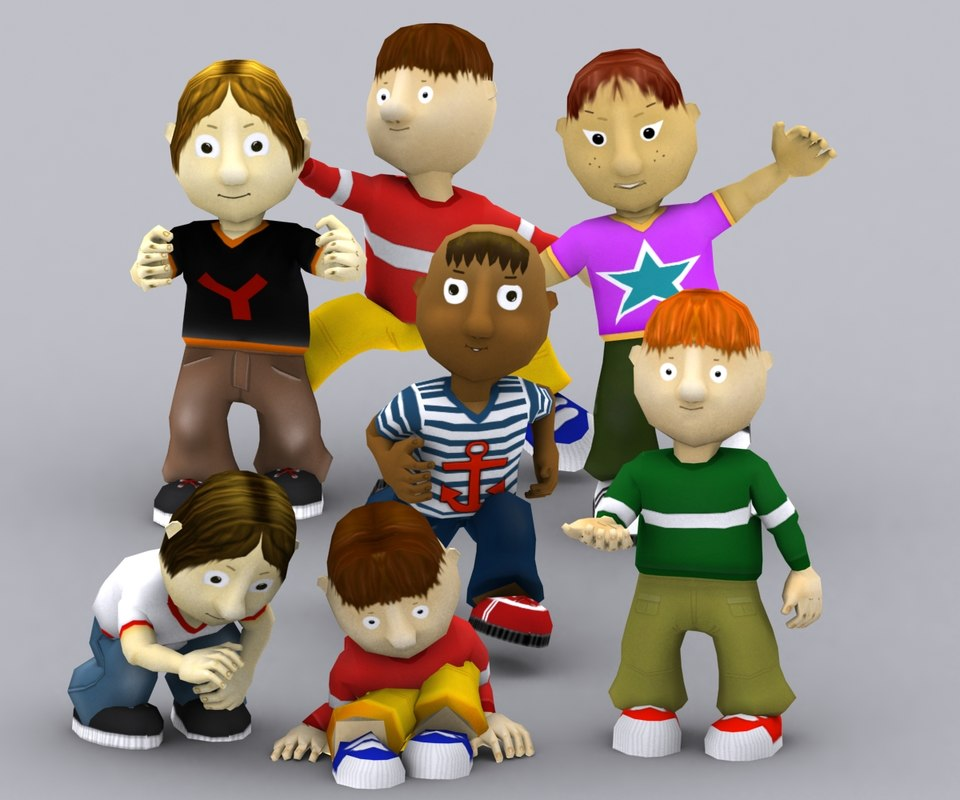 3DRT - Toonworld Characters - Boys