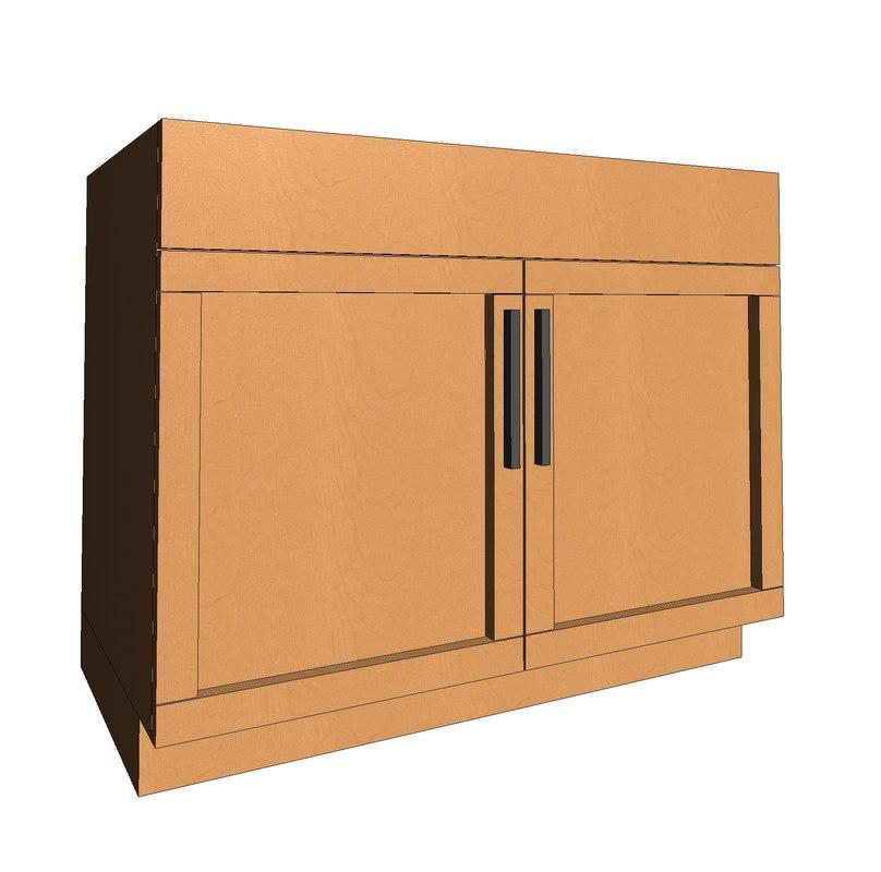 3d Model Of Revit Sink Cabinet Shaker
