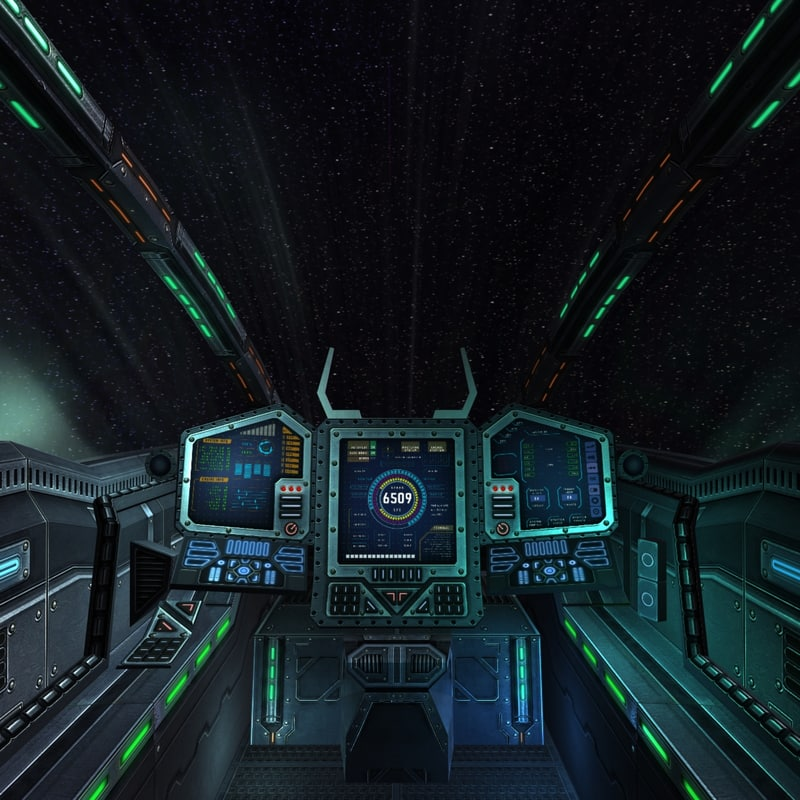 sci fi spacecraft cockpit single person - photo #12