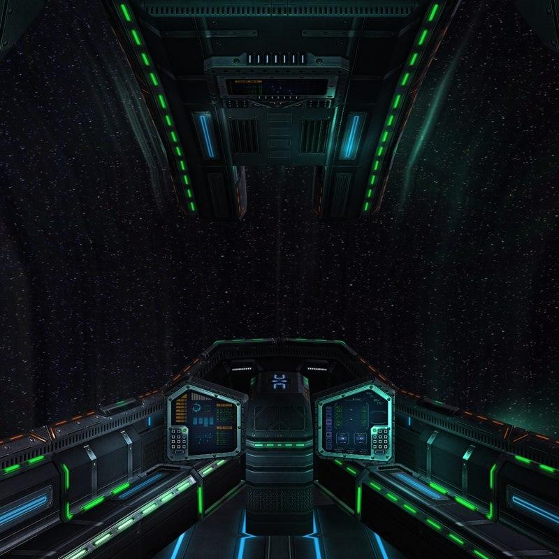 3DRT - Sci-Fi Spaceship Cockpit - 4