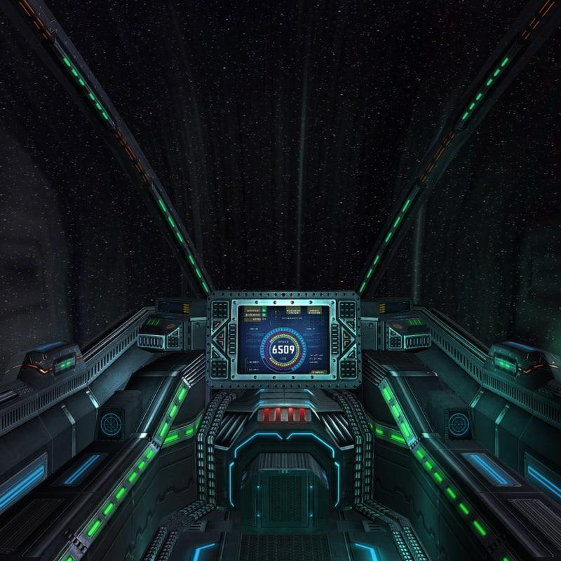 3DRT - Sci-Fi Spaceship Cockpit - 6