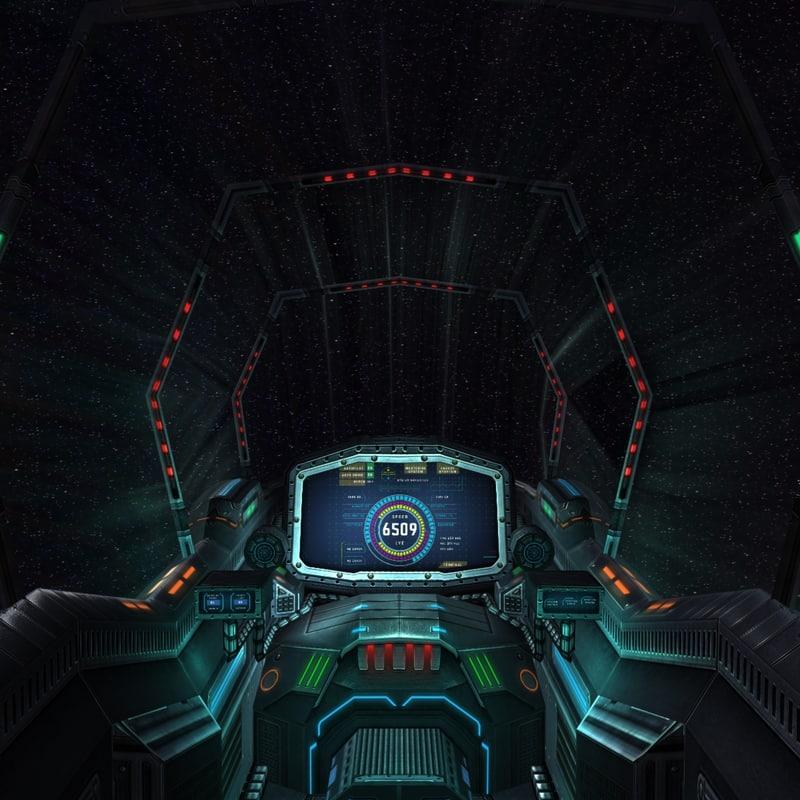 3DRT - Sci-Fi Spaceship Cockpit - 7