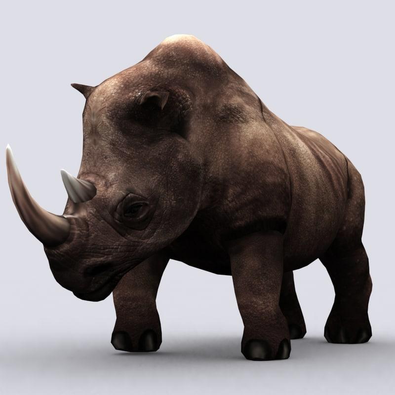 3DRT - Fantasy Animal - Rhino