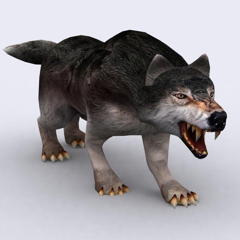 3DRT - Fantasy Animal - Wolf