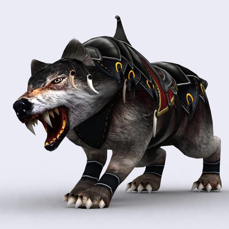3DRT - Fantasy Mounts Animals - Wolf