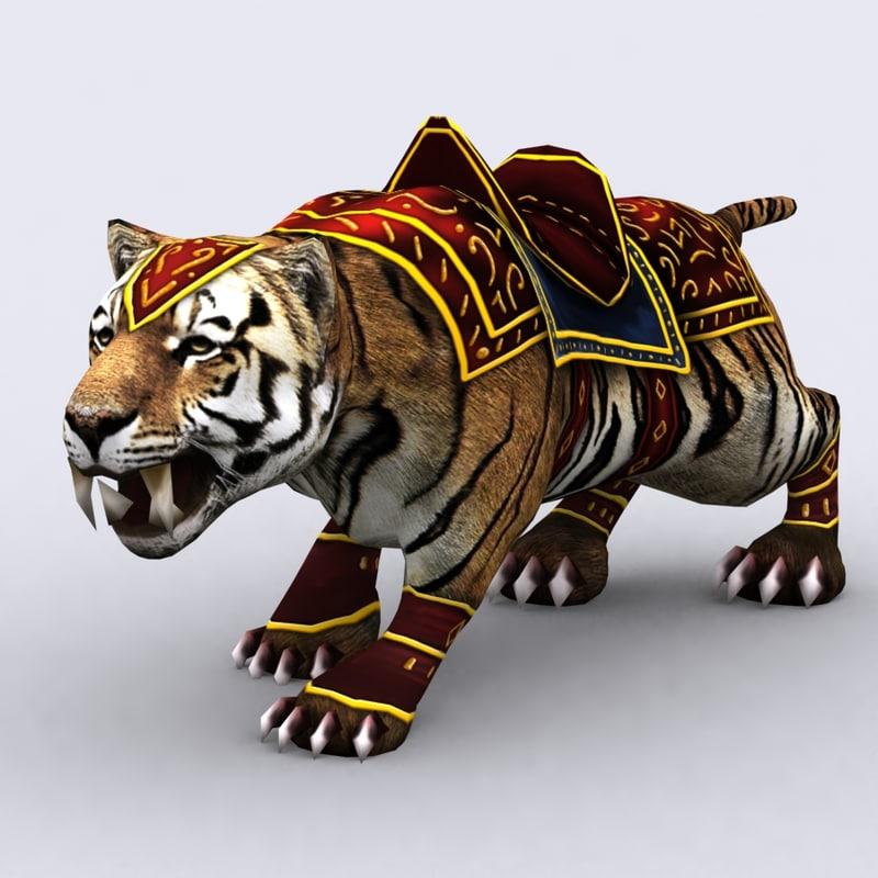 3DRT - Fantasy Animals Mounts - Tiger