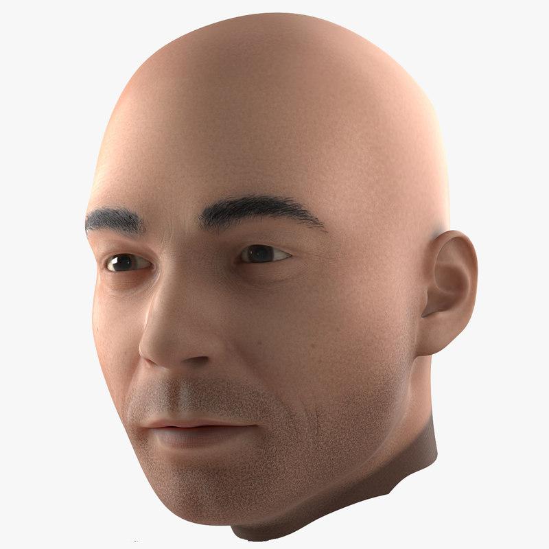 Male Head 3d model 01.jpg
