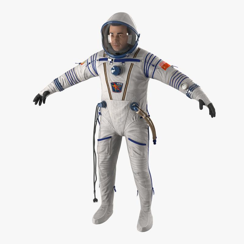 Russian Astronaut Wearing Space Suit Sokol KV2 3d model 01.jpg