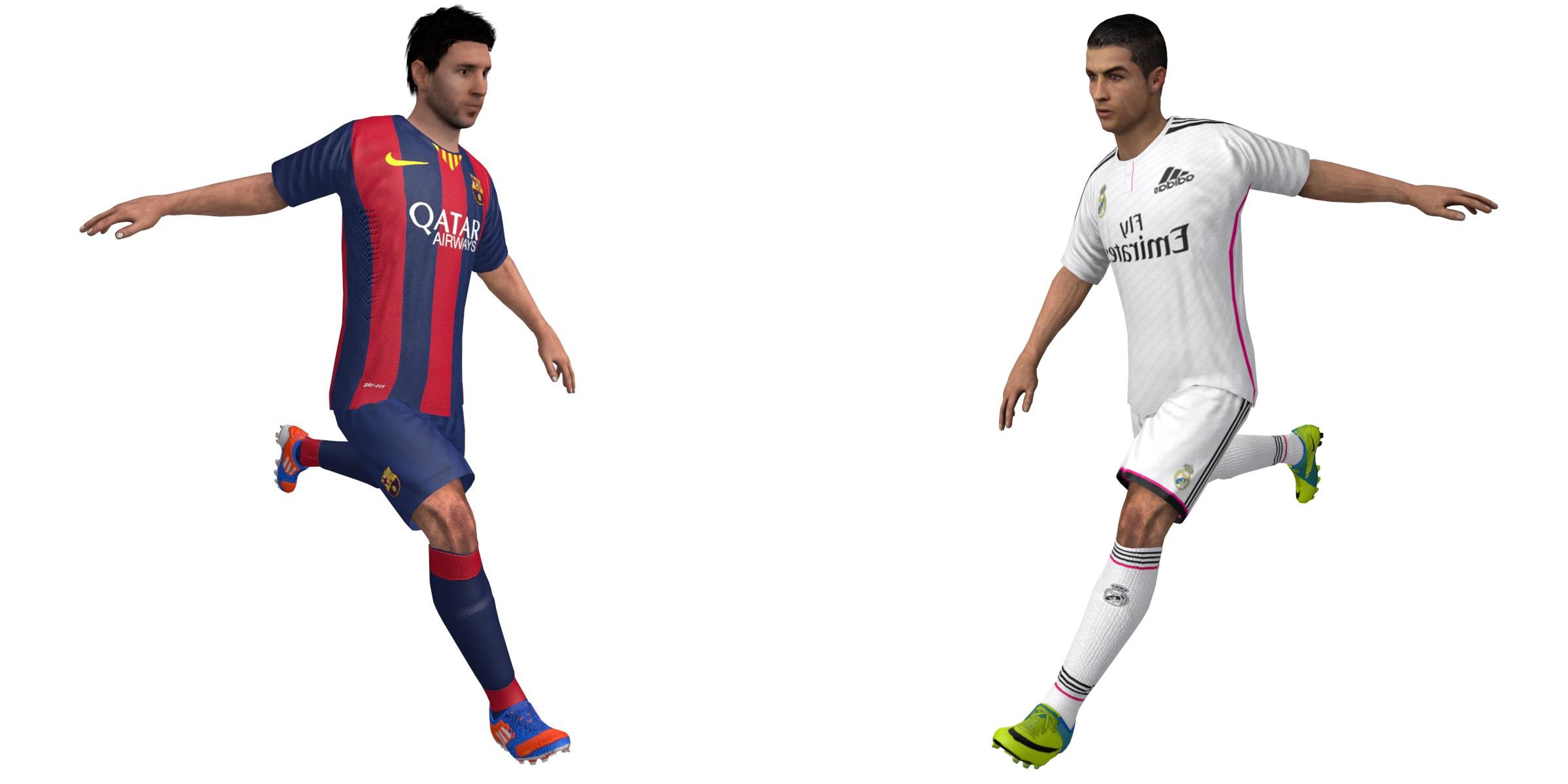 Leo Messi and Cristiano Ronaldo Rigged