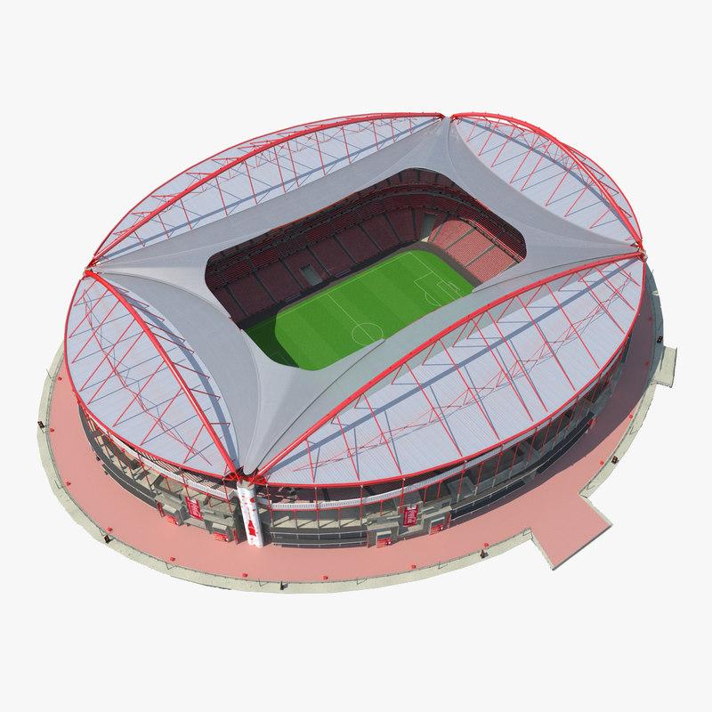 Stadium Estadio da Luz 3d model 001.jpg