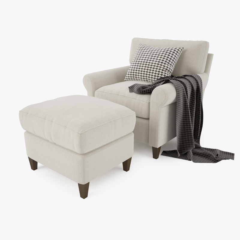 Crate and Barrel-Montclair Armchair and Ottoman-1.jpg