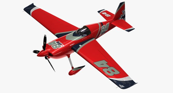 Edge 540 Race Aircraft 3D Models