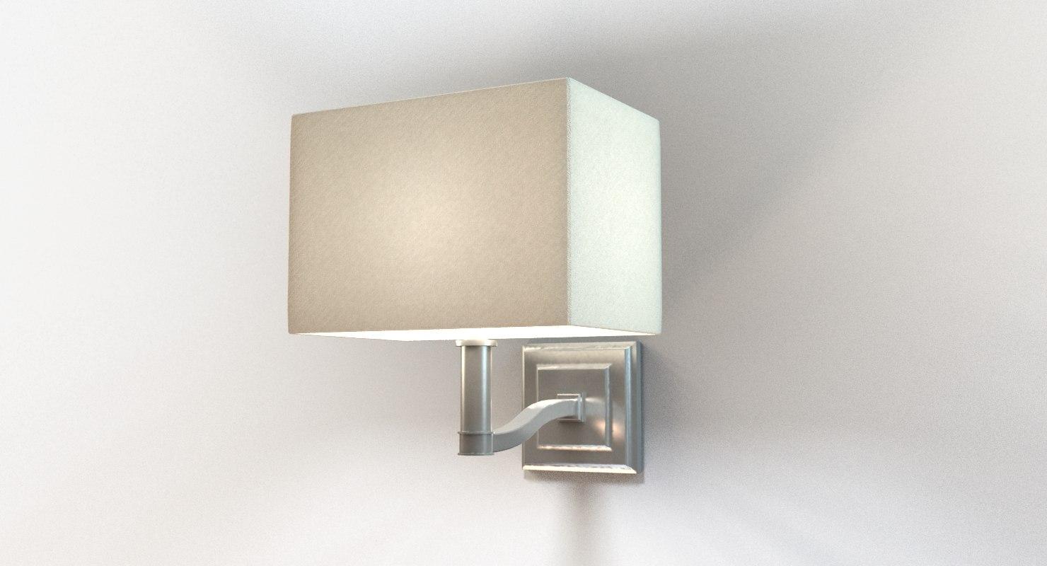 Wall Sconces For Bedside : designer bedside wall sconce 3d model