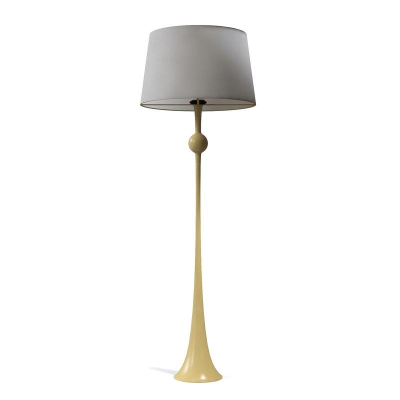Circa dover floor lamp 3d model for Dover silver floor lamp