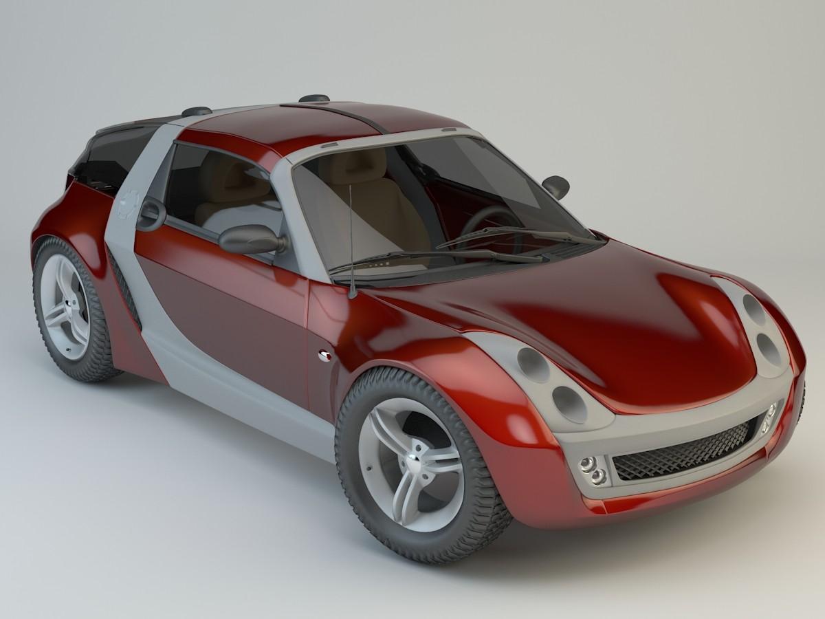 smart roadster 3d model. Black Bedroom Furniture Sets. Home Design Ideas