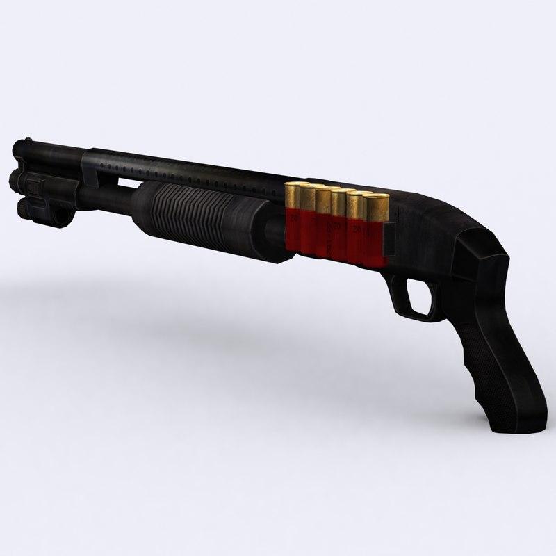 3DRT - Modern Firearms - Shotgun Mossberg 500 Cruiser