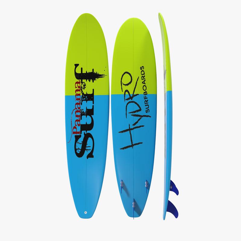 3d model of Surfboard Longboard 01.jpg