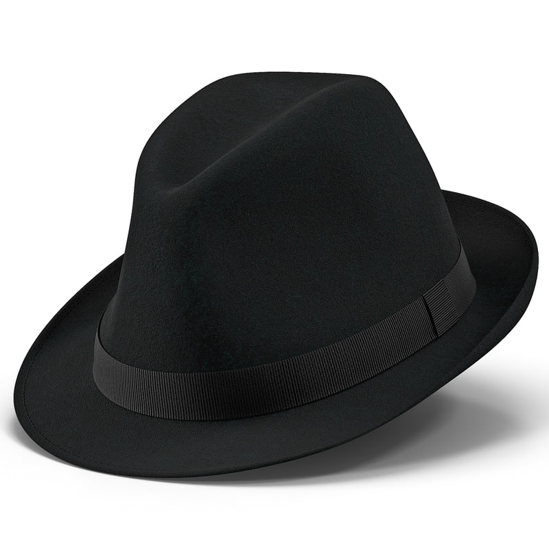 Fedora Hat 3d model 02.jpg