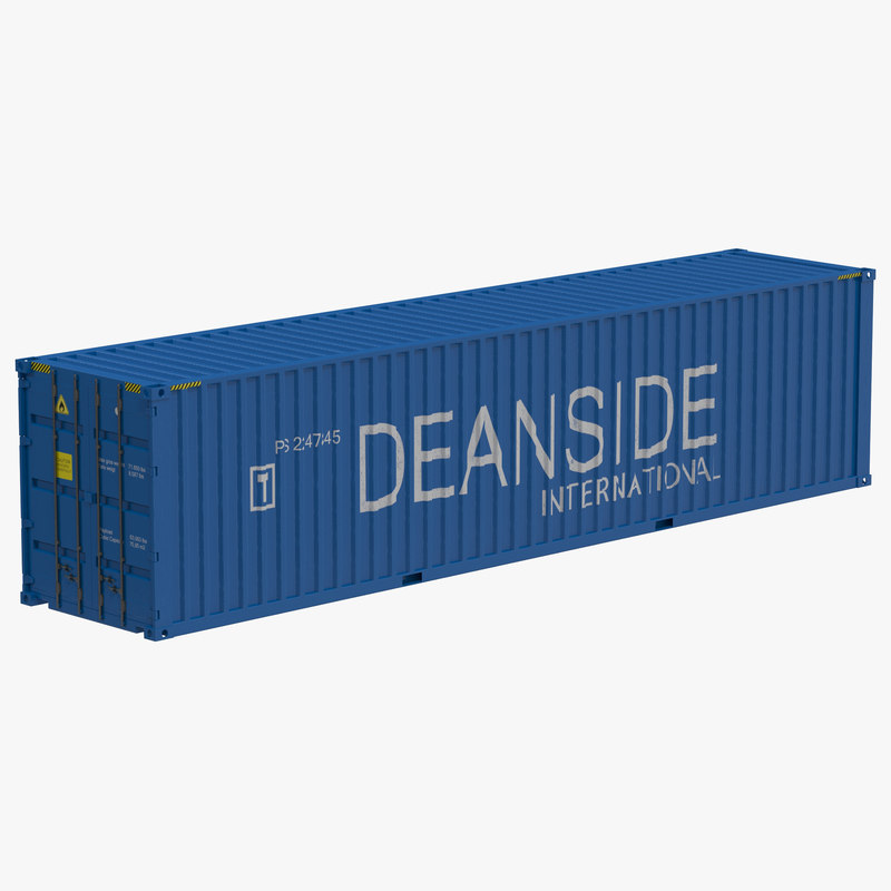 40 ft High Cube Container Blue