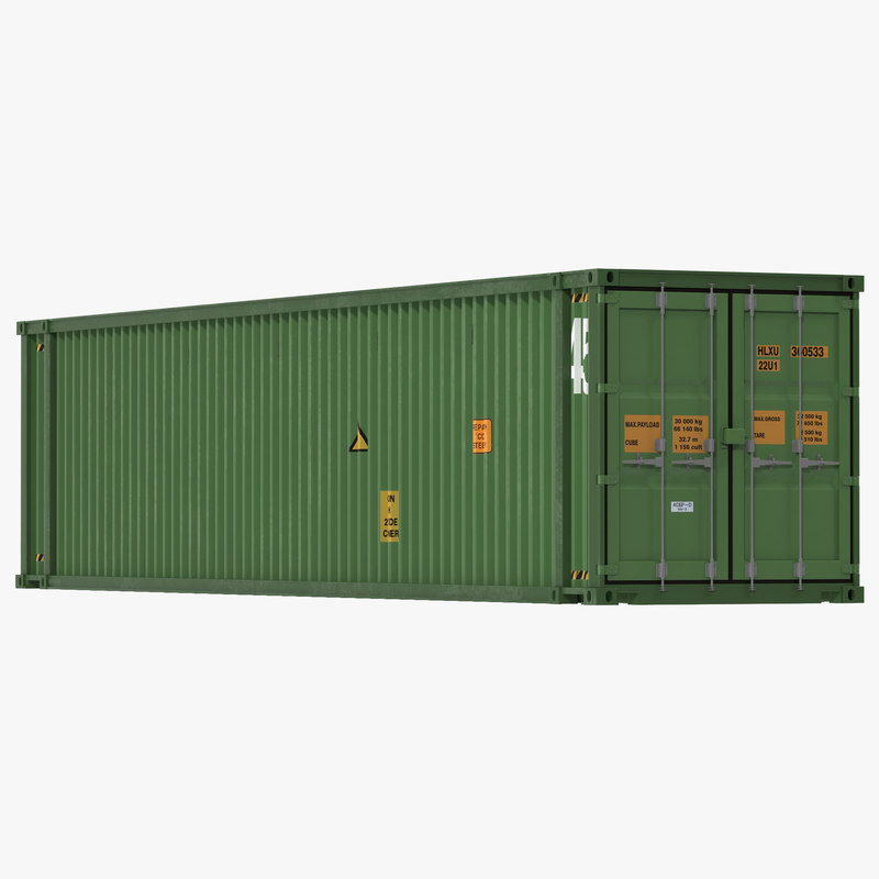 45 ft High Cube Container Green