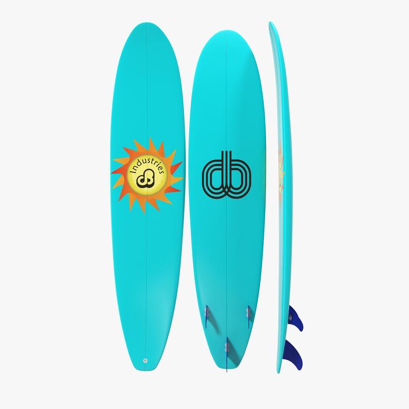 Surfboard Longboard 3d model 01.jpg