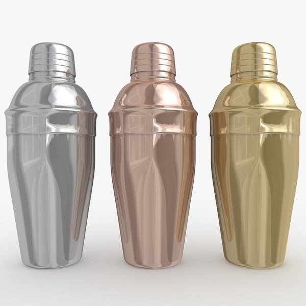 Cocktail Shaker 2 (3 Colors) 3D Models