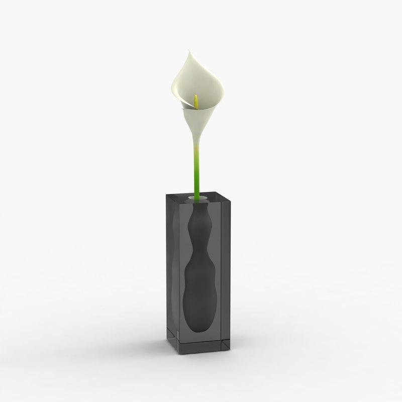 modern vase flower 3d model. Black Bedroom Furniture Sets. Home Design Ideas