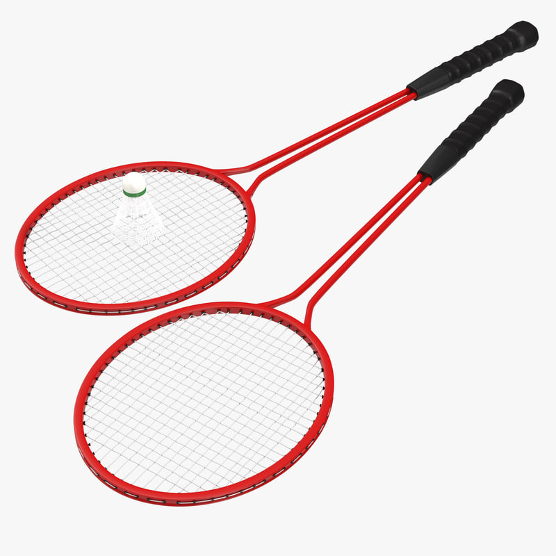 Badminton Racket 2 and Shuttlecock 2