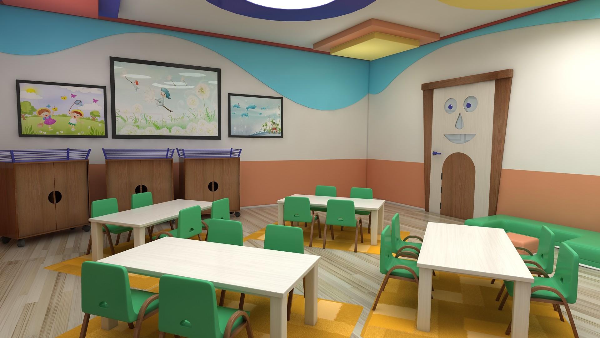 Kindergarten interior design image in 3d -  3d Interior Kindergarten Classroom Photo 26