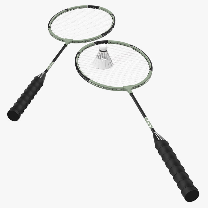 Badminton Racket and Shuttlecock 2