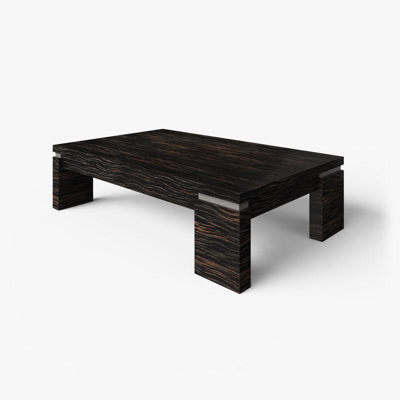 Coffee Table Wooden Macassar