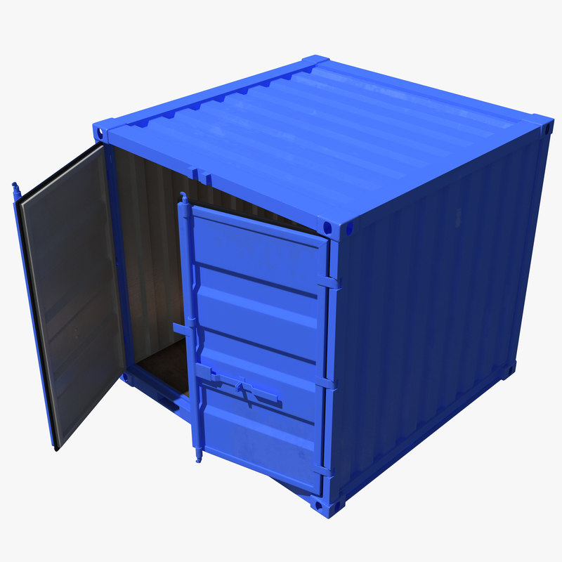 8 ft Storage Container Blue