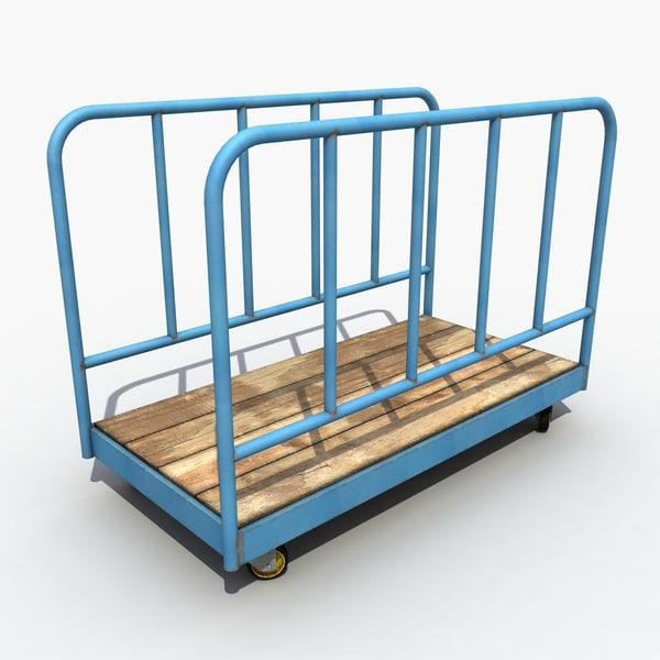 Old Transport Trolley 3D Models