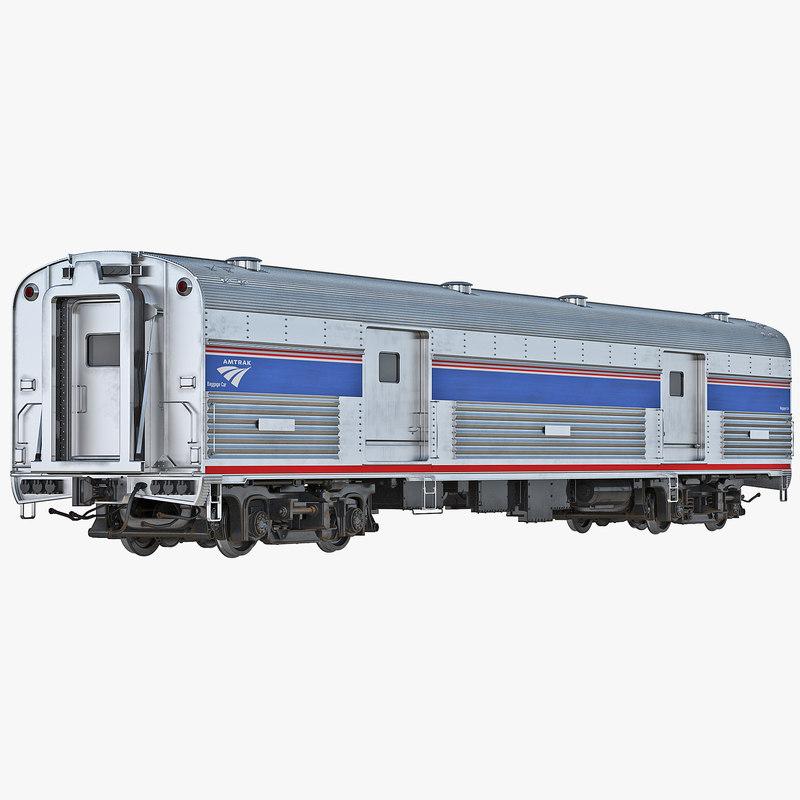 railroad amtrak baggage car interior 3d model. Black Bedroom Furniture Sets. Home Design Ideas