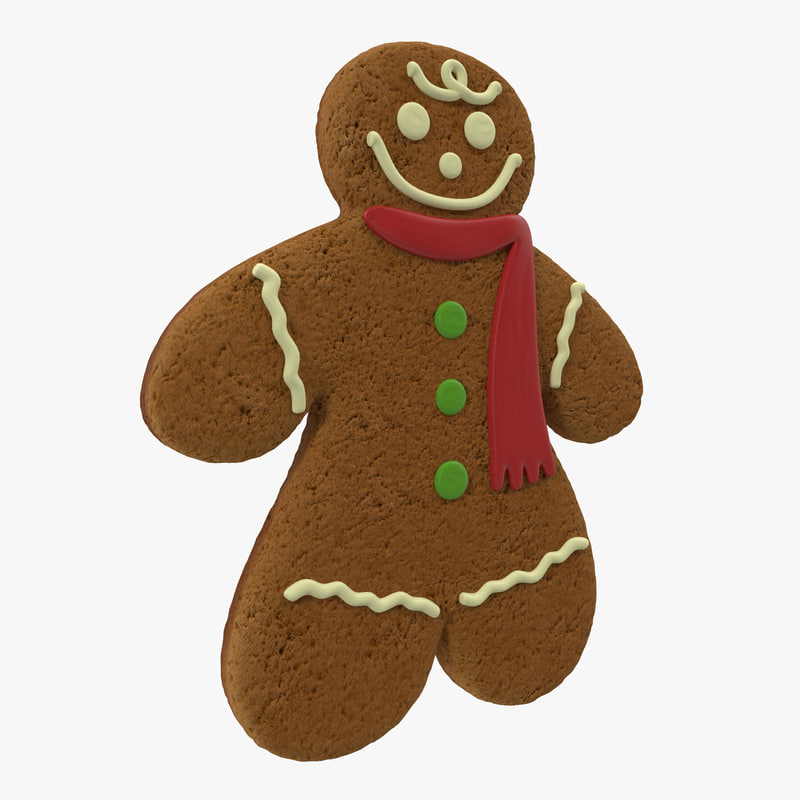Gingerbread Man 3d model 00.jpg