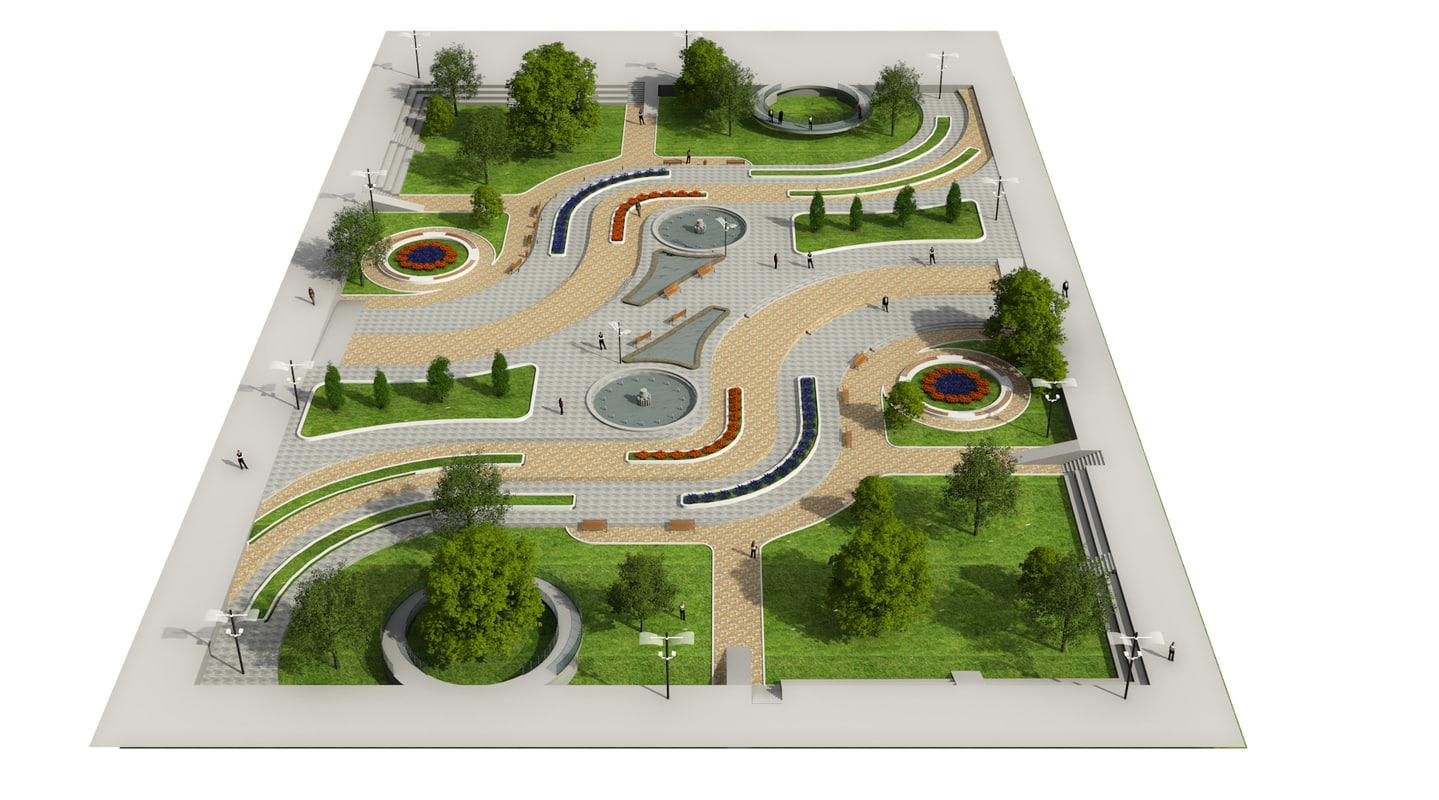 Landscape Park 2 3d Model